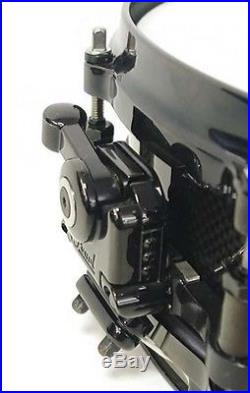 Used! PEARL Carbonply Maple Shell Piccolo Snare Drum CM1435/B Black 14x3.5