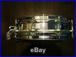 Used! PEARL S-8114P Free Floating Steel Piccolo Snare Drum 14 Made in Japan