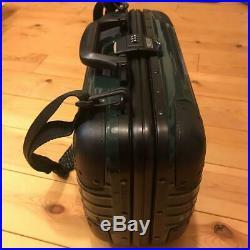 Used RIMOWA PICCOLO Attache Case Shoulder Bag Dark Green With Pouch