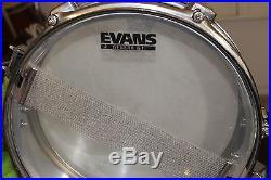 Used Tama Metalworks Piccolo snare 4x13 Evans bottom head