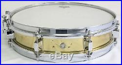 VERY NICE Late 80's PEARL 13 x 3 BRASS PICCOLO SNARE DRUM, B-513P, FREE SHIP