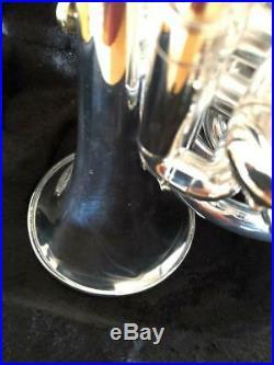 Versilberte Bach Stradivarius 37 Kleine Trompete Taschentrompete Piccolotrompete