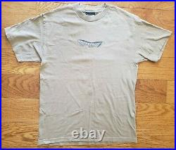 Vintage 1999 Dragon Ball Z Gohan Piccolo Anime TV Promo Rare Men Shirt Large Tan