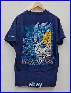Vintage 2000 Dragon Ball Z Super Saiyan 5 Anime Tee Vegeta Piccolo Goku Sz L