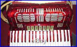 Vintage Castelfidardo Italy Accordion 120 Bass 7 Treble Piccolo 3 Bass VGC