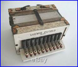 Vintage Childs Miniature Ludwig Piccolo Accordion made in Germany, NR