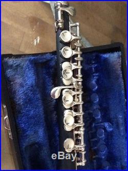 Vintage Gemeinhardt 4PMH Piccolo Original Hard Case Serial #87544 Made in USA