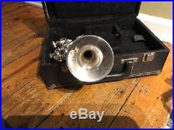 Vintage Getzen Eterna Bb/A Piccolo Trumpet 4 Valve Silver Ser# BP1165 w Case