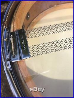 Vintage Ludwig Transbadge Birdseye Maple 13x3 Piccolo Bebop Jazz Snare Drum COB