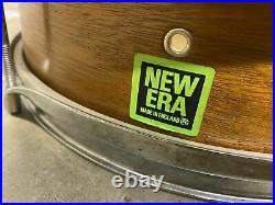 Vintage Premier New Era Wooden Shelled Snare Drum 12x4 / Hardware #LE