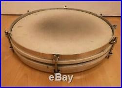 Vintage & Rare John Grey Aqua Marine Pearl Pancake Piccolo Snare Drum 14 X 1