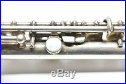 Vintage Selmer Handmade Coin Silver Cylindrical C Piccolo with Gold Springs