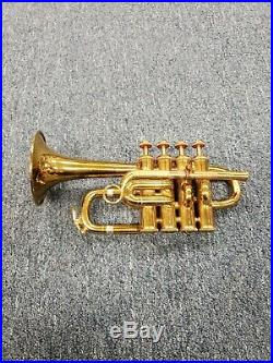 Vintage Selmer Signet Piccolo Trumpet Laquer Finish Bb-A withBach MV Mouthpiece