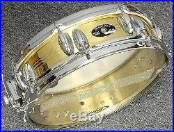 Vintage Slingerland Brass Piccolo Snare Drum. Nice