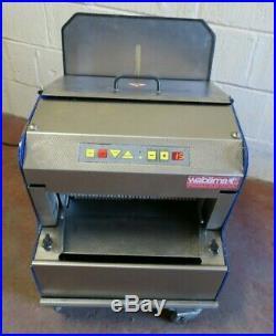 Wabama 380.10 Piccolo Elektronik Automatic Rye 10mm Bread Loaf Slicer Bakery 1Ph