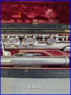 Wm. S. Haynes Boston, MA, Vintage 1924 Silver Piccolo WITH CASE