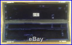 Wm S Haynes C Foot Flute/Piccolo Combo French Style Black Case Blue Velvet