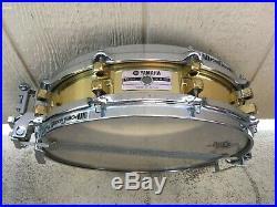 YAMAHA JAPAN SD935BS Brass Piccolo Snare Drum 10 LUG, 14x3.5