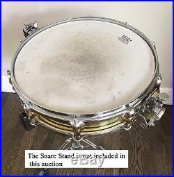 Yamaha Sd493 Piccolo Brass Snare Drum 14 X 3.5 Brass Shell Excellent