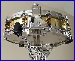 Yamaha Sd493 Piccolo Brass Snare Drum 14 X 3.5 Brass Shell + Pdp Snare Stand