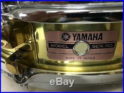 YAMAHA SD 493 PICCOLO BRONZE SNARE 14x3 1/2 with Anvil fiber case VINTAGE