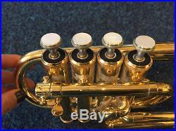 Yamaha YTR6810 4 Valve Piccolo Trumpet Used