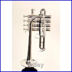 Yamaha YTR-9835 Custom Series Bb / A Piccolo Trumpet Silver 888365794044